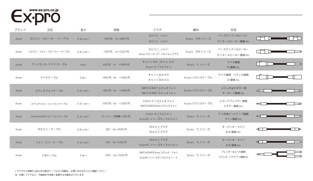Ex-pro受注生産表1